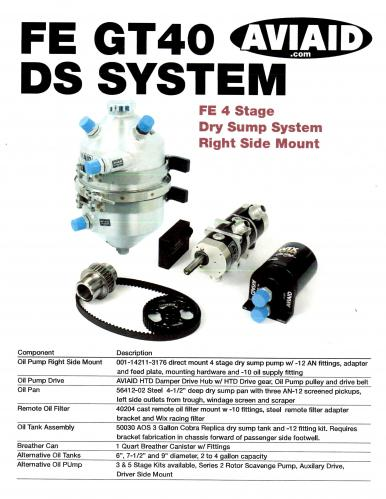 103-10015-1-FE GT 40 Complete Dry Sump System